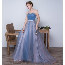 jednoduché modré plesové šaty Veronica XS-S