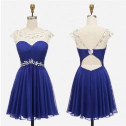 pudrové krátké společenské šaty do tanečních Claudia XS