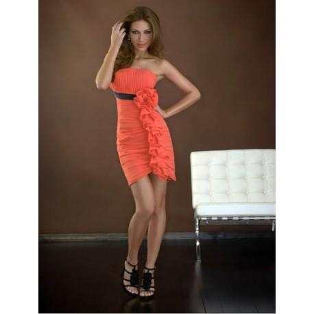 Oranžové společenské šaty na míru