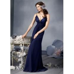 Dlouhé modré večerní šaty na míru