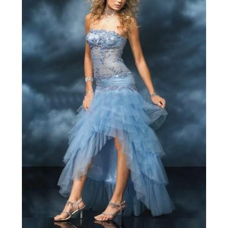 Nebesky modré maturitní šaty na míru