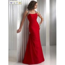 Dlouhé sexy červené společenské šaty na míru