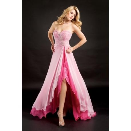 Krásné růžové společenské a maturitní šaty na míru