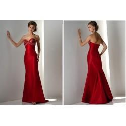 Elegantní červené společenské šaty na míru