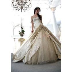 romantické svatební šaty Lenorie šité na zakázku