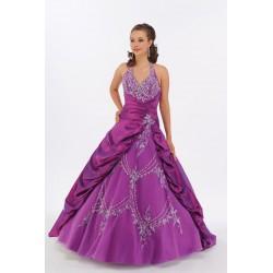 Krásné fialové šaty na míru