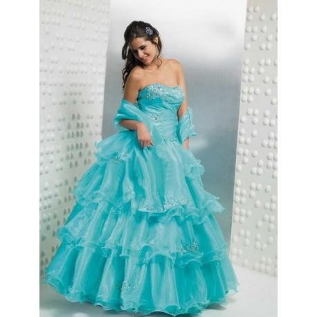 Úžasné modré společenské šaty na míru
