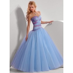 Nádherné modré společenské šaty na míru