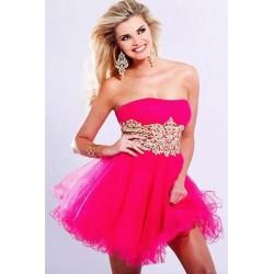 Růžové krátké šaty na míru