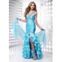 Luxusní modré společenské šaty na míru