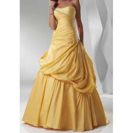 Krásné žluté společenské šaty na míru