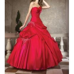 Červené společenské šaty na míru