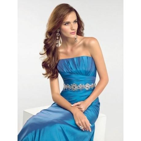 Sexy modré večerní šaty na míru