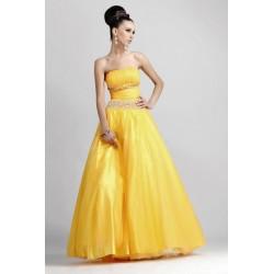 Sexy žluté společenské šaty AKCE