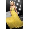 Žluté večerní šaty na míru