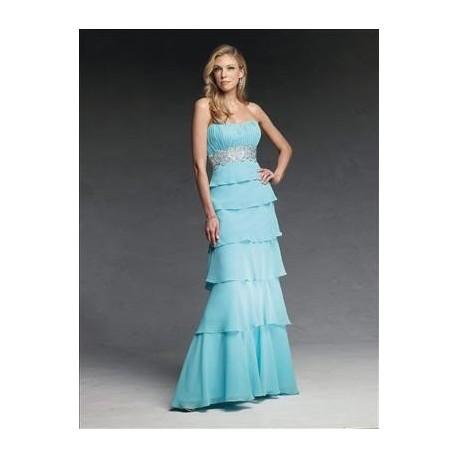 Nebesky modré večerní šaty na míru