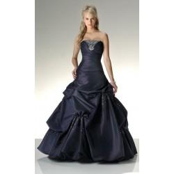 Tmavě modré večerní šaty na míru