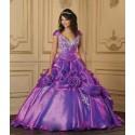 Luxusní fialové plesové šaty na míru