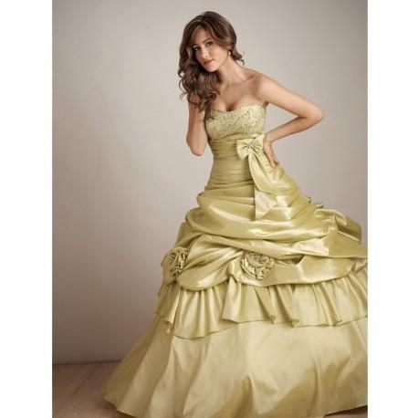 Krásné taftové společenské šaty na míru - Quinceanera