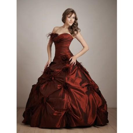 Sexy bordó společenské šaty na míru - Quinceanera 2011 - Hollywood ... 07f52bec2c