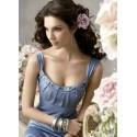 Krásné dlouhé modré večerní šaty na míru