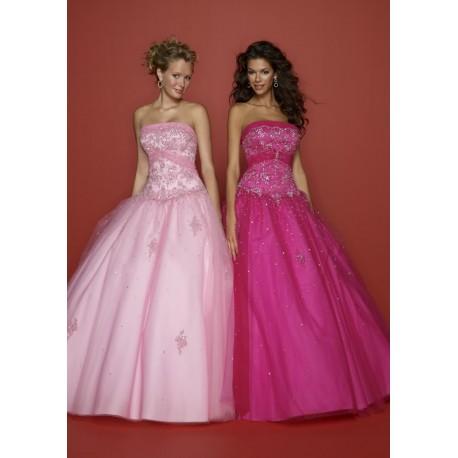 Luxusní růžové společenské šaty na míru