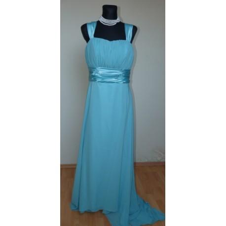 Společenské šaty na míru - antický styl - tyrkysová