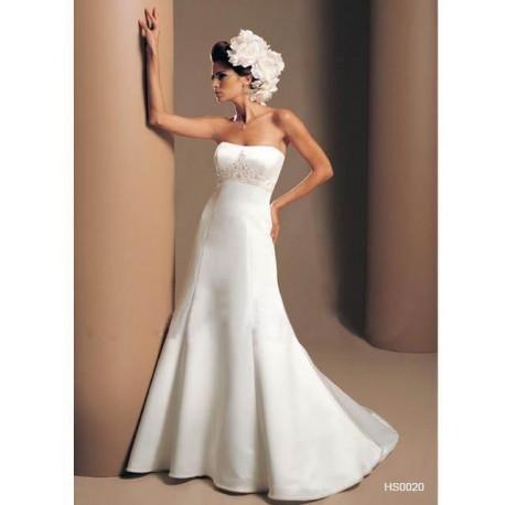 Bílé svatební jednoduché šaty
