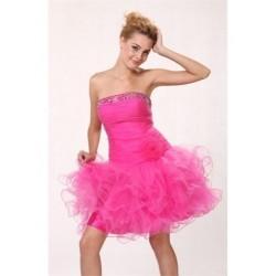 růžové společenské mini šaty