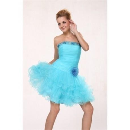modré společenské mini šaty