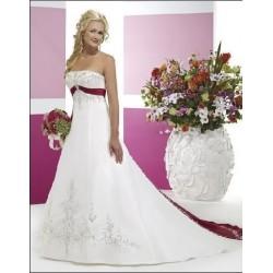 svatební šaty s vlečkou - červené