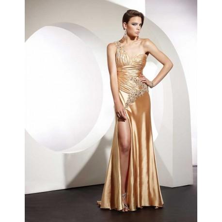 sexy zlaté společenské šaty na míru
