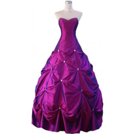 fialové společenské šaty na míru