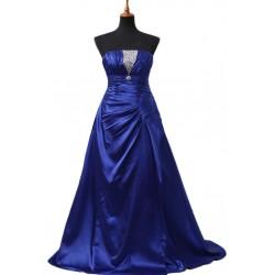 tmavě modré společenské šaty na míru