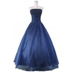 dlouhé modré společenské šaty na míru á la mořská vílá
