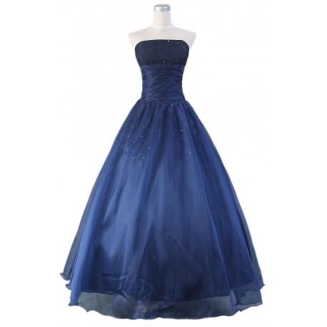 dlouhé modré společenské šaty na míru alá mořská vílá