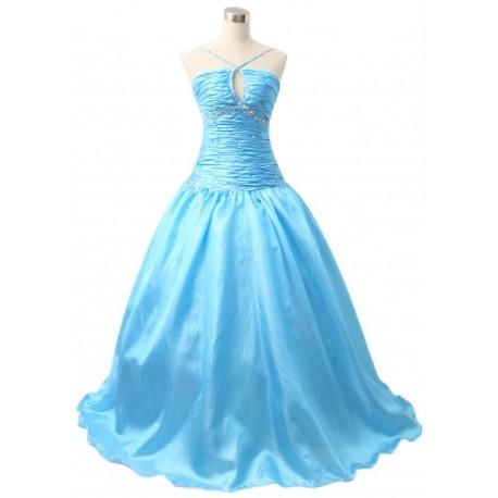 světle modré společenské šaty na míru