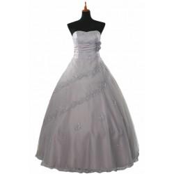 šedé nevšední společenské šaty Kenya šité na zakázku