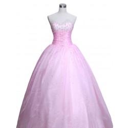 romatické růžové společenské nebo svatební šaty Pinky šité na zakázku