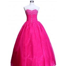 nádherné růžové společenské šaty na míru