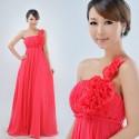 Červené společenské antické šaty na jedno ramínku - na míru