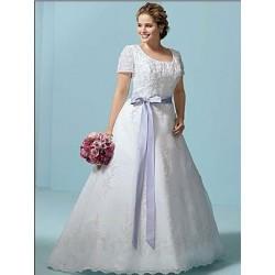 Svatební šaty na míru XXL