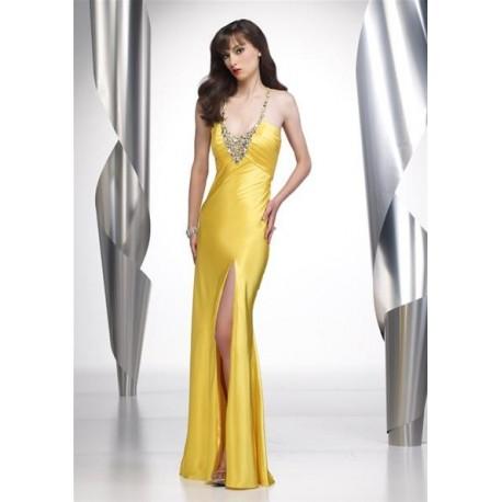 společenské šaty na míru žluté