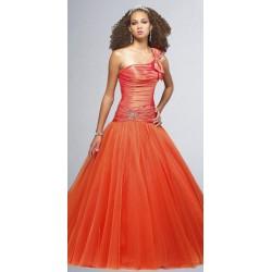 společenské šaty na míru oranžové