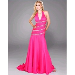 Růžové společenské šaty na míru