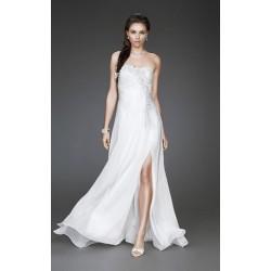 antické svatební nebo společenské bílé šaty