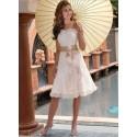 krátké svatební nebo společenské šaty