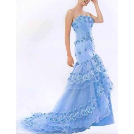 společenské šaty světle modré