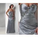 společenské šaty na míru stříbrné