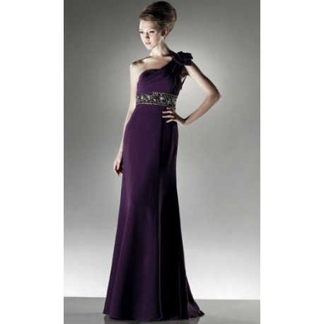 společenské šaty na míru fialové